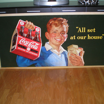 1940s Coca-Cola Cardboard Displays