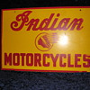 Vintage Indian Motorcycle Sign