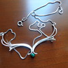 Vintage Sterling Necklace With Malachite