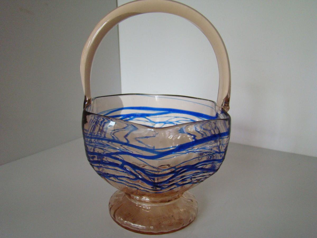Art Deco Log Basket : Kralik basket art deco era collectors weekly