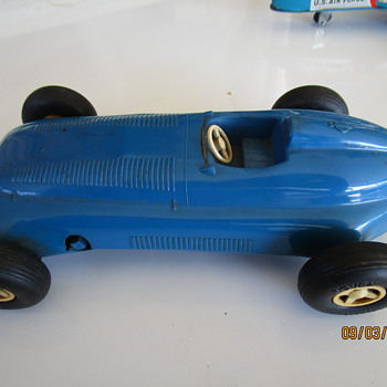 Vintage English Toy Race Car