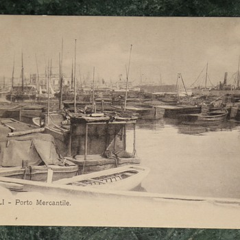 Italian Postcard - Naples Shipyard - Postcards