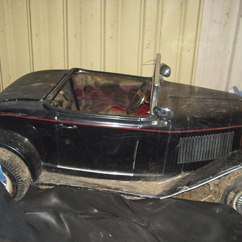 this is a gocart i found in a barn