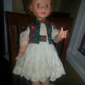 Old Doll in Original European? Dress