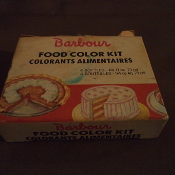 Vintage Food Color Kit