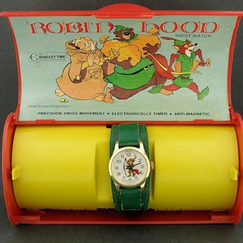 1973 Disney Robin Hood Watch in Box by Bradley