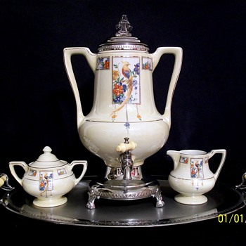 ROYAL ROCHESTER ROYALITE URN AND SERVING SET - China and Dinnerware