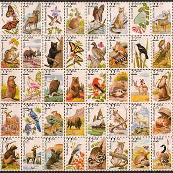 1987 - No. American Wildlife - Mint Pane - Stamps