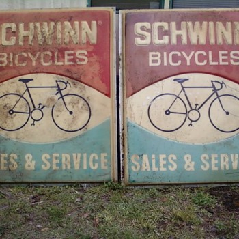 70s schwinn sign - Advertising