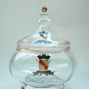 an early EMILE GALLE glass bonbonniere circa 1867