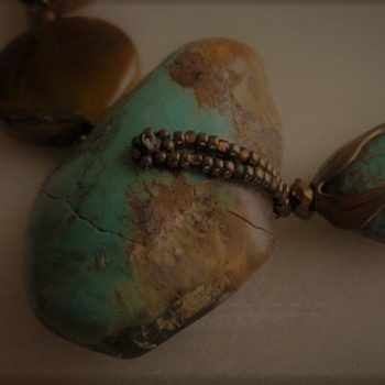 Turquoise nugget beads get a new life - Fine Jewelry