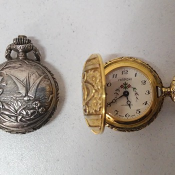 """Framont Incabloc"" silver and gold Pocket Watches - 60's - Pocket Watches"