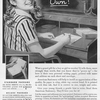 1953 - American Stationary Advertisement - Advertising