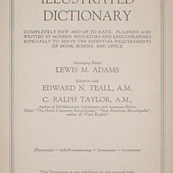 1955 Webster&#039;s Illustrated Dictionary