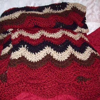 This is an Afghan of  un-recalled makings - Rugs and Textiles