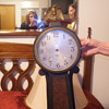 Gilbert Banjo clock dated 1807 stamped #3085