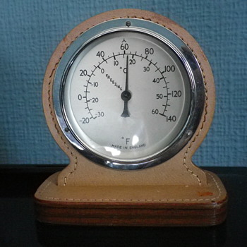 A pig skin Leather vintage thermometer with no makers and I guess the age to be 70's to 80s, a classy tactile feel. - Tools and Hardware