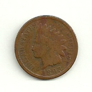 1893 Indian head Penny - US Coins