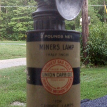 Carbide Miners Light &amp; Can 