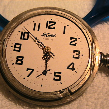 FORD  MODEL T  Elgin  lever set  18 size pocket watch - Classic Cars