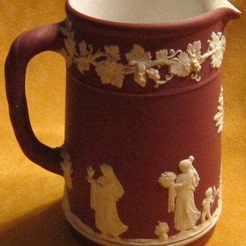 "Wedgwood Crimson Jasperware Milk Pitcher ""Rare Color"" - China and Dinnerware"