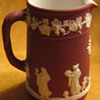 Wedgwood Crimson Jasperware Milk Pitcher &quot;Rare Color&quot;
