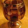 ???Moser Cut gilded Amethyst Cabochon glass???