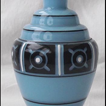 Czech Enemaled Vase