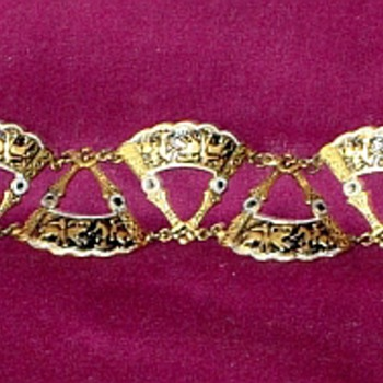 Damascene Bracelet Help Please - Costume Jewelry