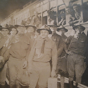 WWI Train Photo - Military and Wartime