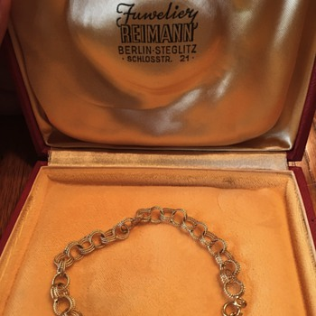 Pre-WWII Germany gold anklet - Fine Jewelry