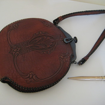 Grandmother's Tooled Leather 1920's Bag