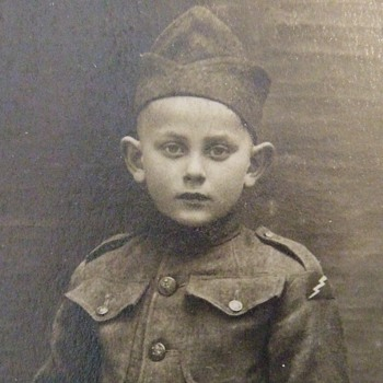 Child in WW1 78th Division PATCHED Uniform