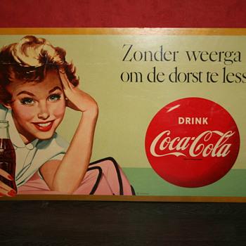coca cola cardboard poster - Coca-Cola