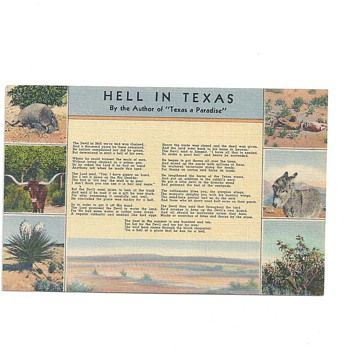 "AR8Jason!!!!!! THIS ONE IS FOR YOU ENJOY!!! ""HELL IN TEXAS"" - Postcards"