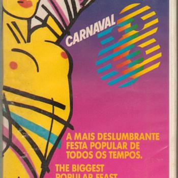 """1988 - """"Carnaval '88"""" Brazil - VHS Tape"""