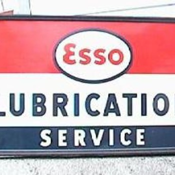 Esso Lubrication Service Sign - Signs