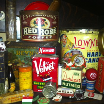 old tins etc.