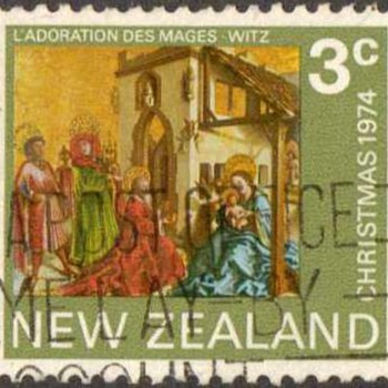 "1974 - New Zealand ""Christmas"" Postage Stamp"