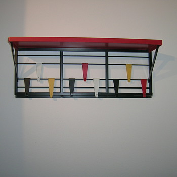 "Pilastro 1950s coat rack "" Toonladder """