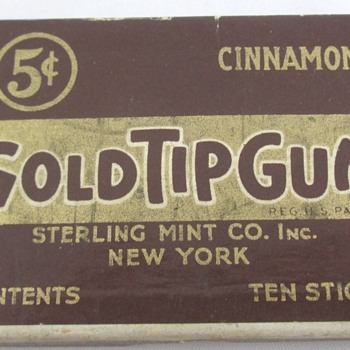 Gold Tip Cigarette Gum