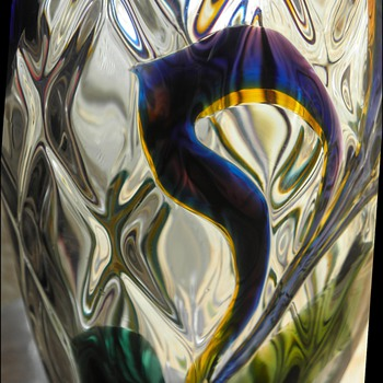 Stevens & Williams Art Nouveau Intarsia Vase - Art Glass