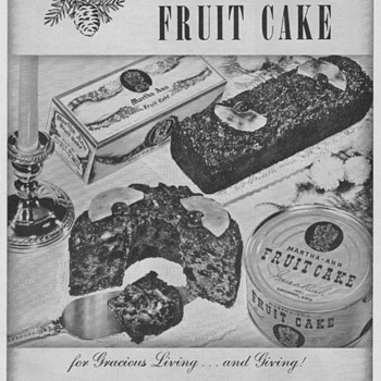 1950 Martha Ann Fruitcakes Advertisement - Advertising