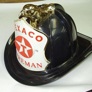 Black Texaco Firemans Hat - Petroliana