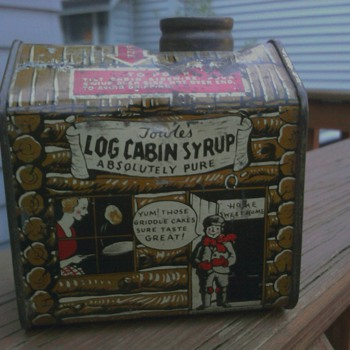 Another Towles's Log cabin Syrup Tin - Advertising