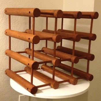Nissen Langaa Denmark Wine Rack - Mid-Century Modern