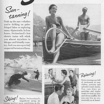 1951 - Swiss Travel Bureau Advertisements