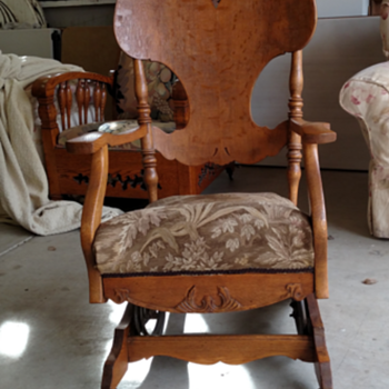 Oak fixed leg rocker