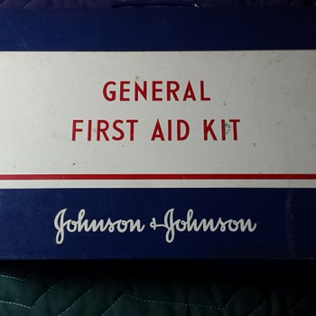 Vintage Johnson & Johnson First aide kit
