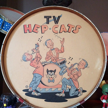 1950's TV Hep Cats Toy Drum Set